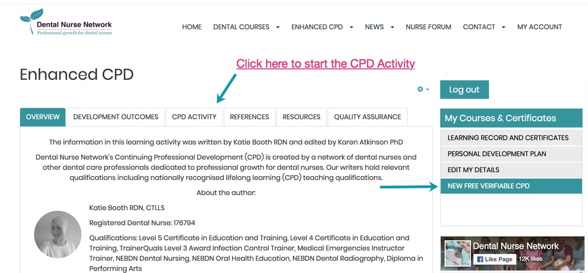 How to access the New FREE CPD