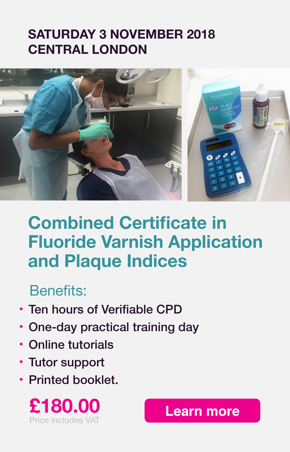 DNN030.1118 Banner Fluoride Varnish Application Plaque Indices